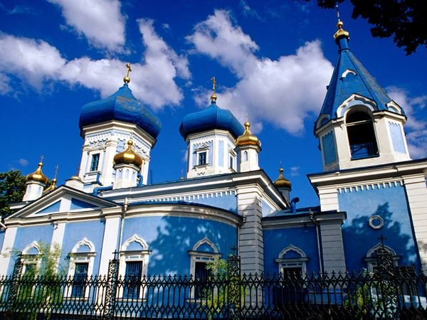 Moldova's Orthodox Saints Church Near An Armenian Cemetery In The Capital, Chisinau, By Dan Herrick